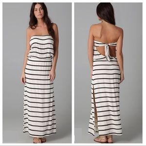 VIX striped Maxi Odette Bandeau Long Dress
